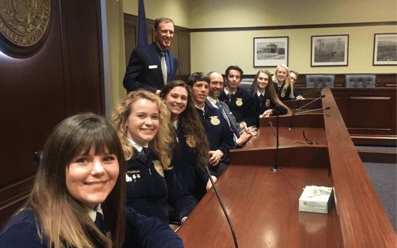 Idaho FFA members visit the Capitol