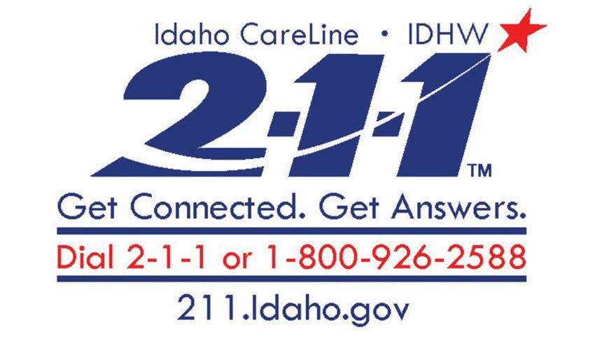 Idaho's 2-1-1 Suicide Prevention number